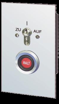 BFT Schlüsseltaster mit Notstop-Taster unterputz