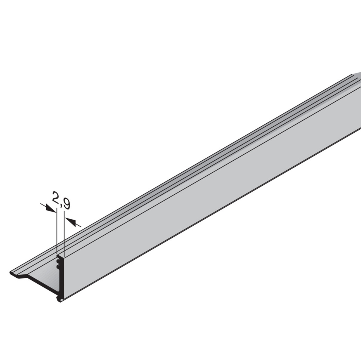 Hörmann Glasleiste-Aluminium NFS 26