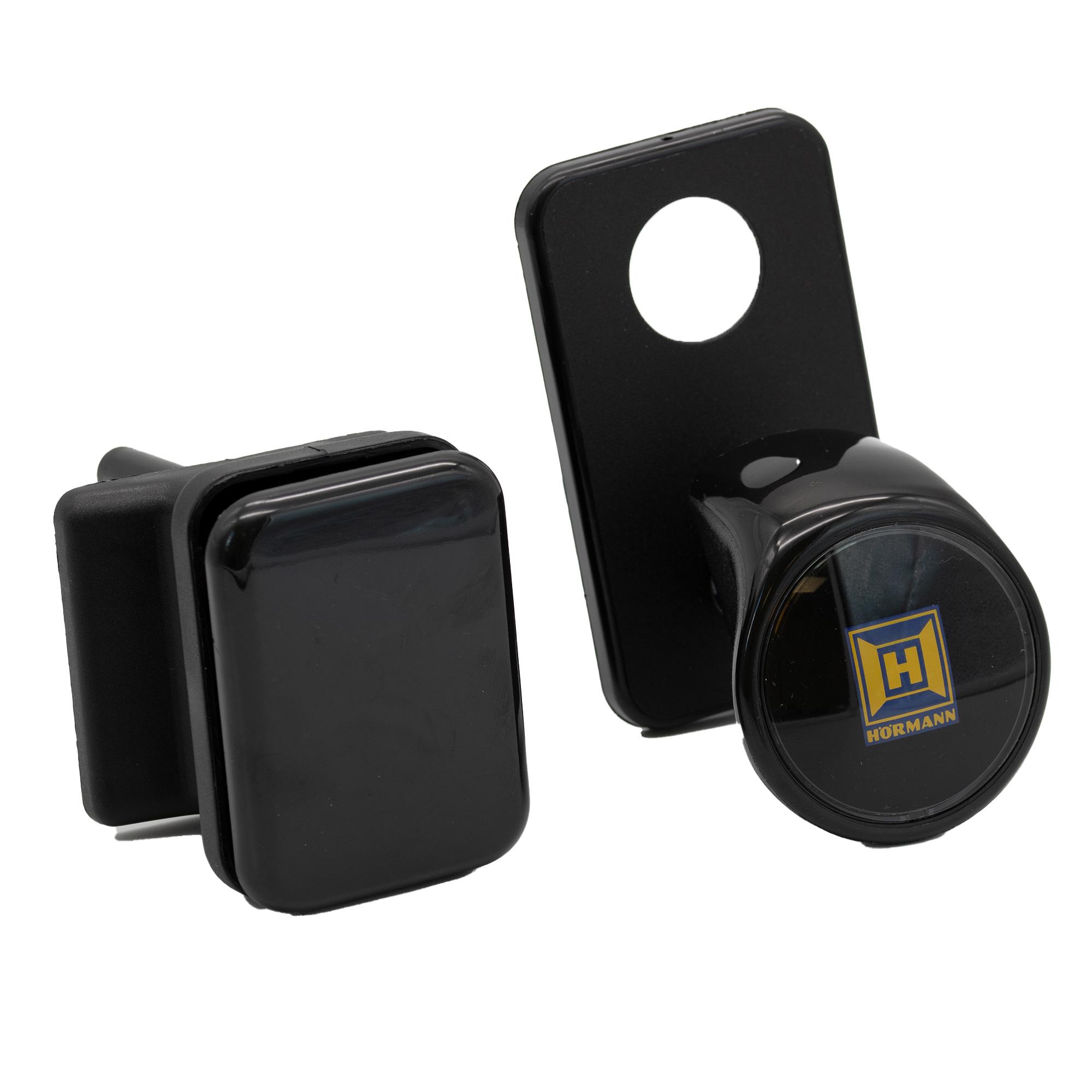 Hörmann Außengriffgarnitur mit Verdeckschild, Kunststoff schwarz