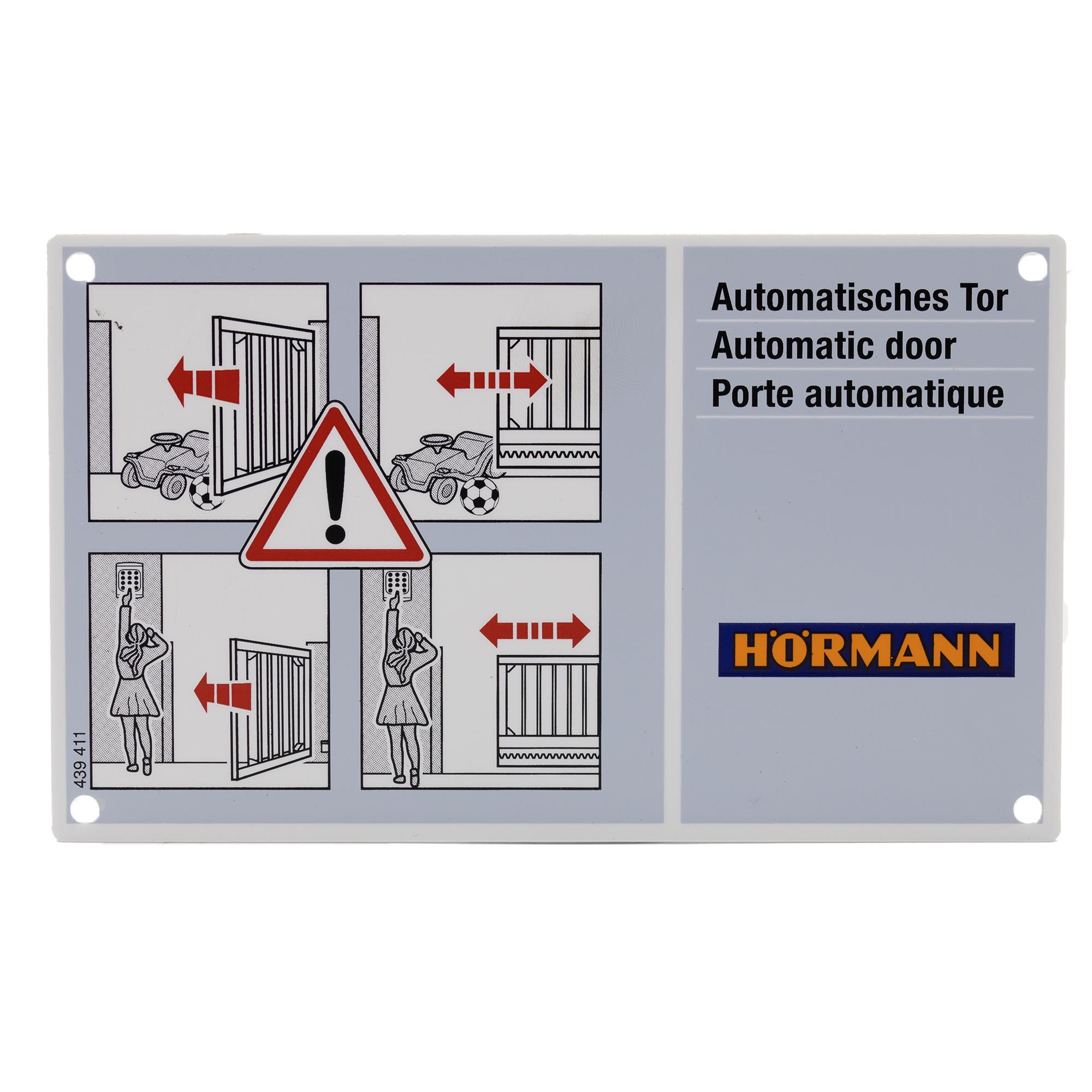Hörmann Warnschild LineaMatic/ P/ H